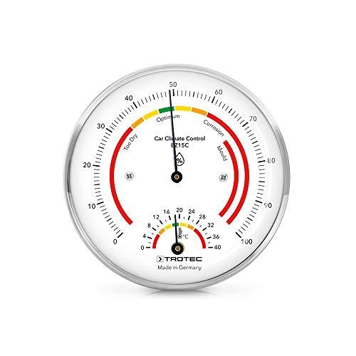TROTEC BZ15C Thermohygrometer Thermometer Perfekt für Oldtimer-Besitzer Spezielles Skalen Design mit einer klimabezogenen Farbindikation