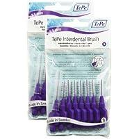 Cepillo interdental original de la marca TePe, de 1,1mm, tamaño 6, paquete de 2 unidades, un total de 16 unidades