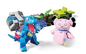Mega Construx Pokemon Figuras Totodile vs. Snubbull, Juguetes de Construcción Niños +6 Años (Mattel FVK70)