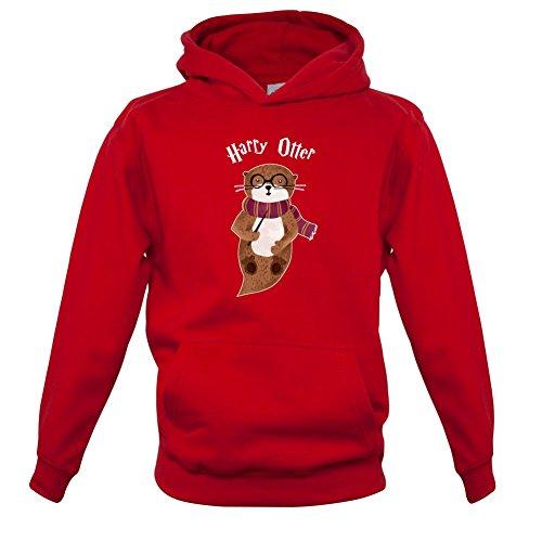 Dressdown Harry Otter - Kinder Hoodie/Kapuzenpullover - Rot - XXL (12-13 Jahre)
