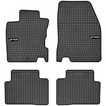 DBS 1765900 Alfombrillas de coche de goma - A medida - Alfombrillas para coche - 4 uds. - Goma de gran calidad - Inodora - Antideslizante - contorno elevado