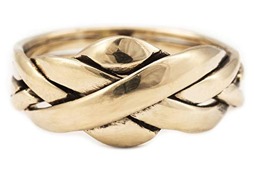 Windalf Ring ZANO h: 1 cm Puzzlering 6 teilig edle Bronze (Bronze, 60 (19.1)) -