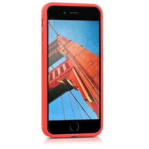 kwmobile Étui en TPU silicone élégant pour Apple iPhone 6 / 6S en rose ancien mat charbon brossé rouge