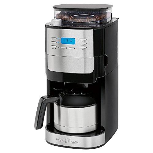 ProfiCook PC-KA 1137 Kaffeemaschine inkl. einstellbarem Mahlwerk, Edelstahl-Thermokanne, programmierbare 24-Stunden-LCD-Digital-Zeitschaltuhr