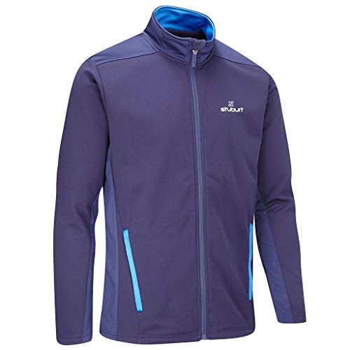 Stuburt Golf 2017 Mens Endurance Sports Thermal Full Zip WindProof Fleece Jacket Midnight XL (Jacke Zip Golf)