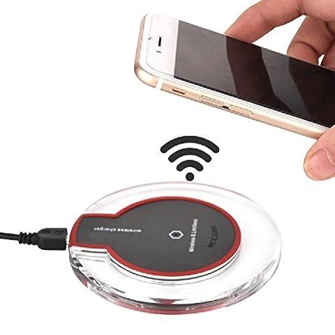 Heliomax Noir LED Qi chargeur induction sans fil Station de