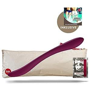 Fun Factory SONIC, violett, Silikon Doppeldildo (Set inkl. tollen Zubehör) Sharedildo, Paartoy Sexspielzeug für sie und ihn