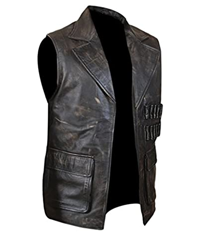 F&H Men's League of Extraordinary Gentlemen Allan Quatermain Genuine Leather Vest XS Brown