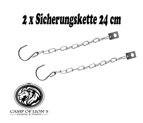 Chaîne de sécurité 24 cm avec crochets en S et plaque murale pour pendentif bord Fermeture