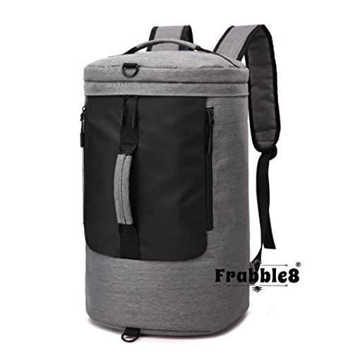 Frabble8 3 in 1 Laptop Duffel Travel Backpack 15 inch for Men and Women Anti-Theft USB Charge Port Large Size 35 Ltrs (Grey - Waterproof)