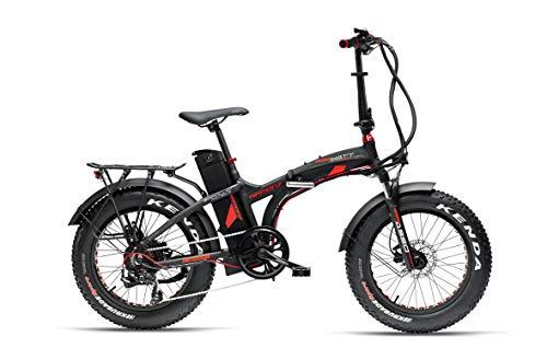 """Armony Asso Sport, Bicicletta Elettrica Unisex Adulto, Nero Opaco Rosso, 20\"""""""