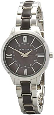 Anne Klein Womens Quartz Watch, Analog Display and Stainless Steel Strap AK-3329GYSV