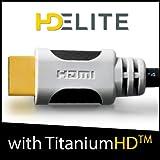HDElite Câble HDMI 1.4 1M mètre 1080p + // Super 3D Ready // 4Kx2K // Ethernet Channel // Dolby DTS TrueHD // Connecteurs hautes précisions Flex Grip // Garantie 2 ans // Optimisés spécialement pour les équipements Home Cinema haut de gamme.