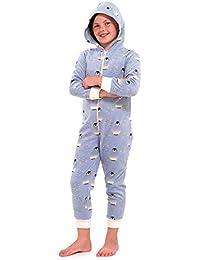1f4e750cdf71b Octave - Combinaison pyjama à capuche - motif pingouin - fille - bleu