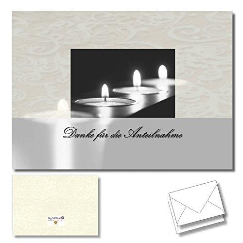 """Preisvergleich Produktbild DigitalOase 2 Dankeskarten """"Danke für die Anteilnahme"""" Danksagung Trauerfall Beerdigung Dankeskarten Trauer Trauerkarten Danksagungskarten 2 Klappkarten incl. 2 weiße Kuverts DIN A6 (aufgeklappt ca. 29 x 10 cm) - KEINE LAGERWARE WIR DRUCKEN TÄGLICH FRISCH - DigitalOase ist Markenware"""