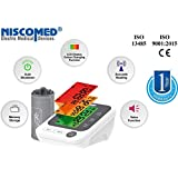 Niscomed Fully Automatic Digital Upper Arm Blood Pressure Monitor PW-215 with Large LCD Display Colour Coded Backlight Indicator Pouch,USB Lead and batteries included (Adult Cuff)
