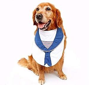 AIWEI Grands Chiens De Mode Marin Cravates Marine Marine Toilettage Big Dog Bibs Animaux Costume