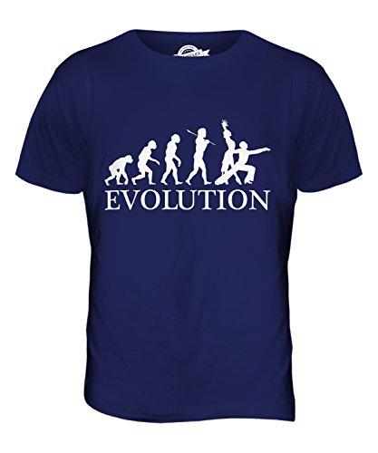 CandyMix Rumba Tanzen Evolution Des Menschen Herren T Shirt Navy Blau