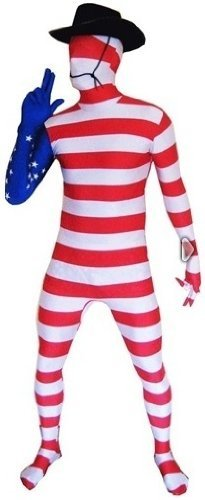 Genuine Morphsuit Lycra Bodysuit Morph Suit bandiera Design USA XL