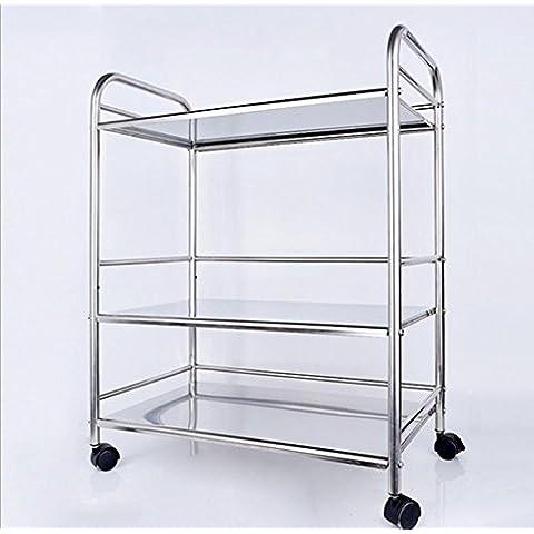 Cucina in acciaio inox scaffale forno a microonde stoccaggio mensola rack di storage rack di portaspezie torretta , microwave oven 3 layer -60