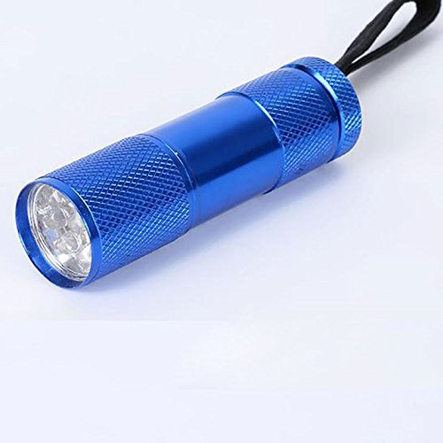 Gladle UV-Taschenlampe Blacklight Pet Urin und Flecken Detektor Fackel 12 Ultraviolettes LED-Licht (blau)