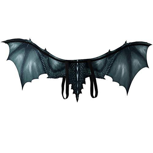 Dragon Wings Kostüm - AMOSFUN Halloween Dragon Wings Vampir Fledermaus Flügel Cosplay Kostüm Zubehör Leistung Prop Dekoration Bühne Vlies Flügel Requisiten für Erwachsene