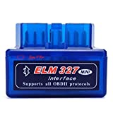 im77r Bluetooth OBD2 V2.1 Lector de escáner de diagnóstico del Coche Elm327 Luz de Control del Motor para Android,Windows,Linux,iOS - Trabaja con Torque Pro/Lite
