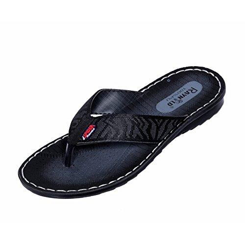 IndiWeaves Men Flip Flop House Slipper And Sandal-Black-8 IND/UK