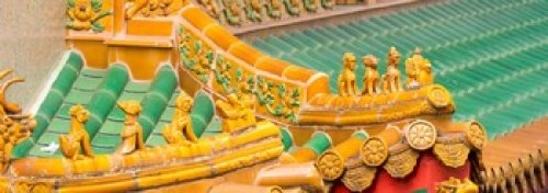 Panoramic Images - Architectural detail of the roof of a temple Kwan Im Thong Hood Cho Temple Singapore Photo Print (45,72 x 17,78 cm) -