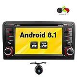Freeauto Radio estérea de 7 pulgadas Android 8.1 GPS para el reproductor de DVD del coche de Audi A3 / S3 Quad Core con la función de reflejo de la pantalla y OBD2