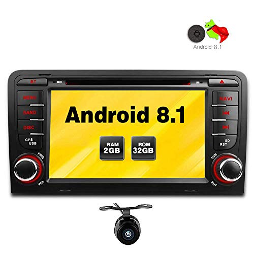 Freeauto für Audi A3/S3 7 Zoll Android 8.1 Betriebssystem Quad Core Auto DVD Player mit Screen Mirroring Funktion & OBD2 -