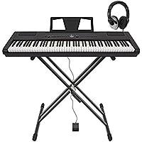Piano de Scène SDP-3 par Gear4music + stand et casque