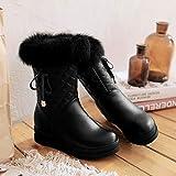 Phy Shoe Winter-Schnee-Stiefel erhöht Keilstiefel Größe, schwarz, 43