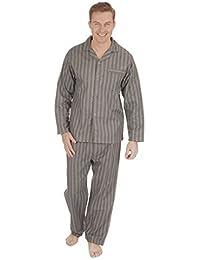 Hombre Térmico 100% Algodón Franela Set Pijama ~ M a 5XL