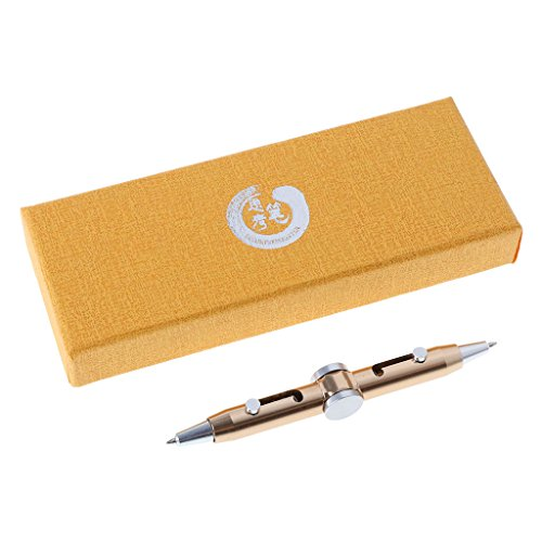 Exing Kugelschreiber mit Gyroskop Fingerspitzen Stift Fidget Stift Spinner Metal Spielzeug Anti-Stress Kugelschreiber Creative für Kinder Schüler gold