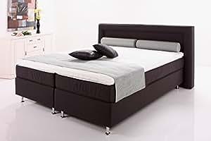 moebel4home boxspringbett maritime dunkelbraun 5 zonen taschenfederkern visco topper. Black Bedroom Furniture Sets. Home Design Ideas
