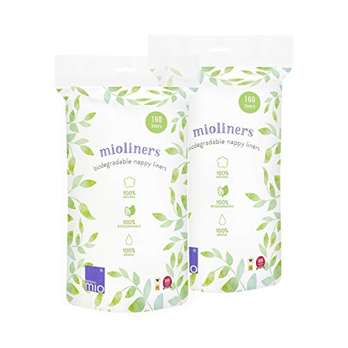 Bambino Mio, mioliners forros biodegradables para pañal, pack de 2