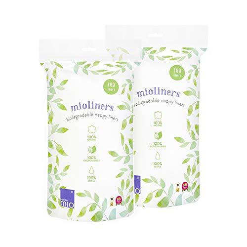Bambino Mio BL2, Mioliners (Forros Biodegradables para Pañal), Blanco, Pack de 2 Unidades