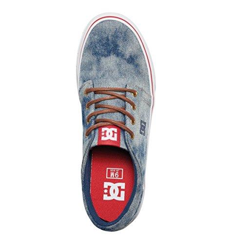 DC Shoes  Trase Tx M, Sneakers Basses homme Bleu - Indigo Bleached Vintage