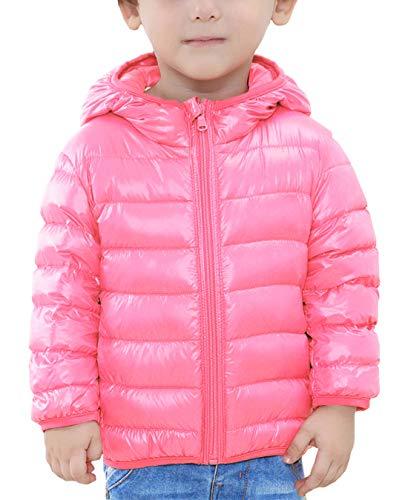 Happy Cherry - Down Jacket para Niñas Chaqueta Abajo Acolchado de Plumas de Patos Calentito...