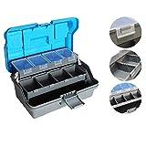 Haiyemao Aufbewahrungsbox für Angelhaken 32x16x15 cm 3 Schicht Big Fishing Lure Tackle Box Griff Kunststoff Angeln Werkzeugkoffer Aufbewahrungsbox für Angelhaken