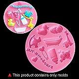 LBOJA Baby Spielzeug Babyflasche Silikonform Fondant Kuchen Schokolade Dekorieren Tool