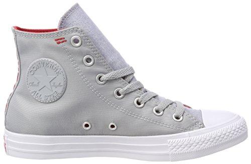 – Adulto Grey Ctas Collo Red Alto white Converse Hi enamel A Unisex wolf Sneaker Grau