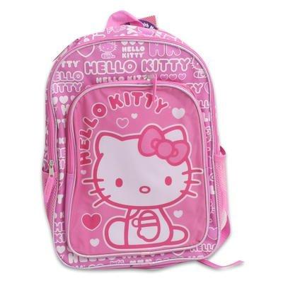 Backpack - Hello Kitty - Hearts Pink (16 School Bag) -