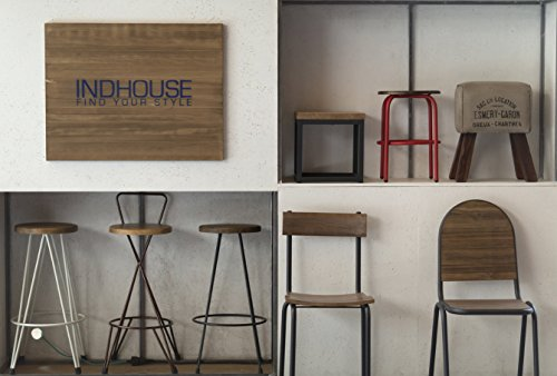 Indhouse u sgabello vintage per loft in stile industriale