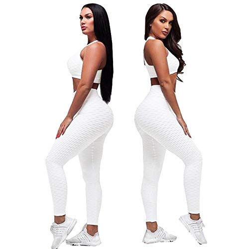 Kostüm Candy Pants - Ayujia Yogahosen Anzug Weibliche Zweiteilige Set Frauen Trainingsanzug Voll Solide Crop Top Fitness Kleidung Hohe Taille Leggings Kostüm Frauen Set