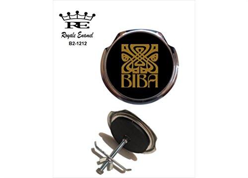Preisvergleich Produktbild Royale Emaille Royale Car Grill Badge – Biba schwarz gold Mod Sixties B2. 1212