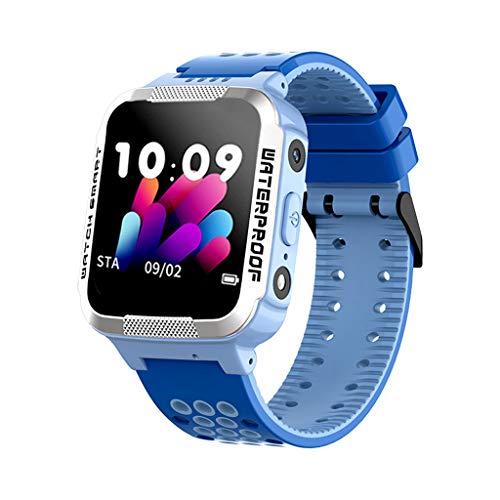 Cloodt Neu wasserdichte Kinder-Smartwatch-Handy Verfolgung und Positionierung der Smartwatch Sport Edelstahl Mesh Dünne Armbanduhren (BU) -