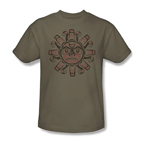 Tribal Sun - Adult Safari Green S/S T-Shirt For Men, XX-Large, Safari Green