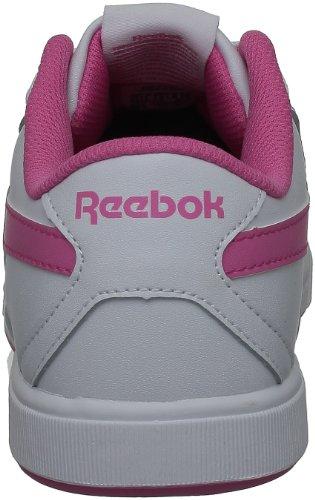 Reebok CL SOLID COURT, Scarpe modalità Unisex bambino Blanc (White/Trendy Pink)